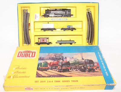 Lot 325 - Hornby Dublo 2019 2-6-4 Tank Goods Set, 2-rail...