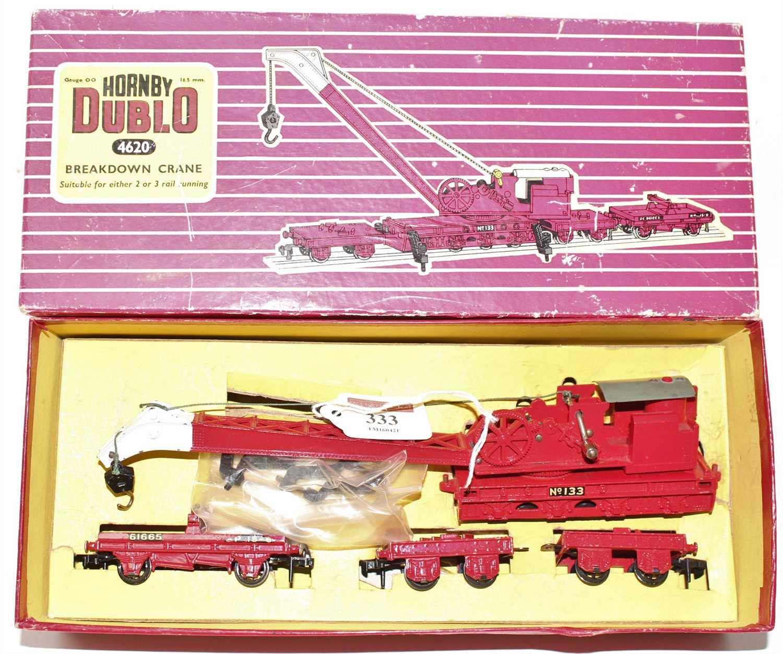 Lot 333 - Hornby Dublo 4620 Breakdown Crane, gloss,...