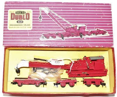 Lot 333 - Hornby Dublo 4620 Breakdown Crane, gloss,...
