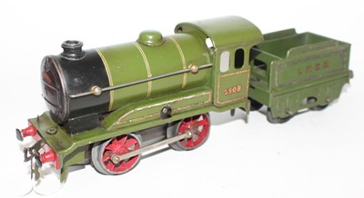 Lot 228 - Hornby 1936-37 No.0 Clockwork 0-4-0 LNER 5508...