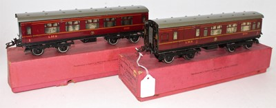 Lot 215 - Two 1937-41 Hornby No.2 Corridor coaches, LMS...