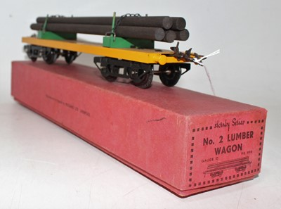 Lot 216 - Hornby 1935/39 No.2 Lumber Wagon, plain yellow...