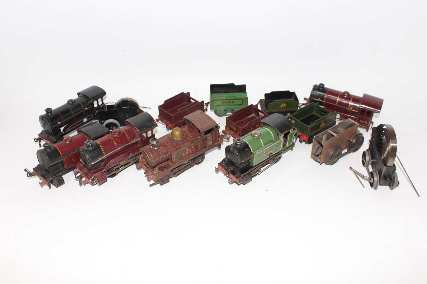 Lot 218 - Small tray containing Hornby C/W Locos, all...