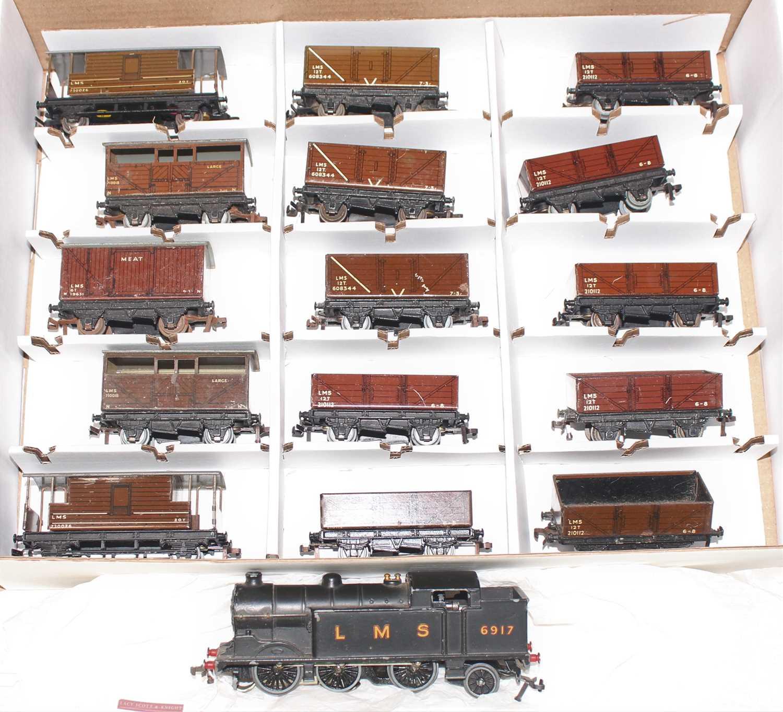 Lot 350 - Hornby Dublo, LMS Goods Train, EDL7 LMS 0-6-2...