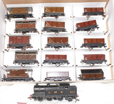 Lot 350 - Hornby Dublo, LMS Goods Train, EDL7 LMS 0-6-2...