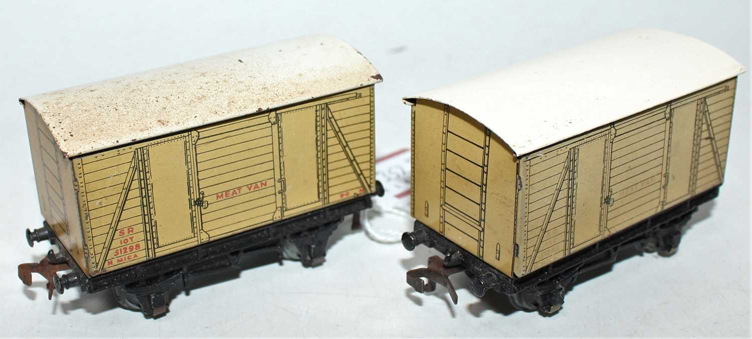 Lot 352 - Two Hornby Dublo Post War SR Meat Wagons, one...