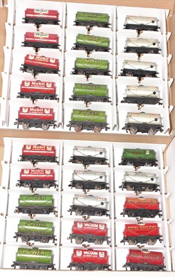 Lot 355 - 13 Hornby Dublo Tank Wagons, 8x Power, 1x...