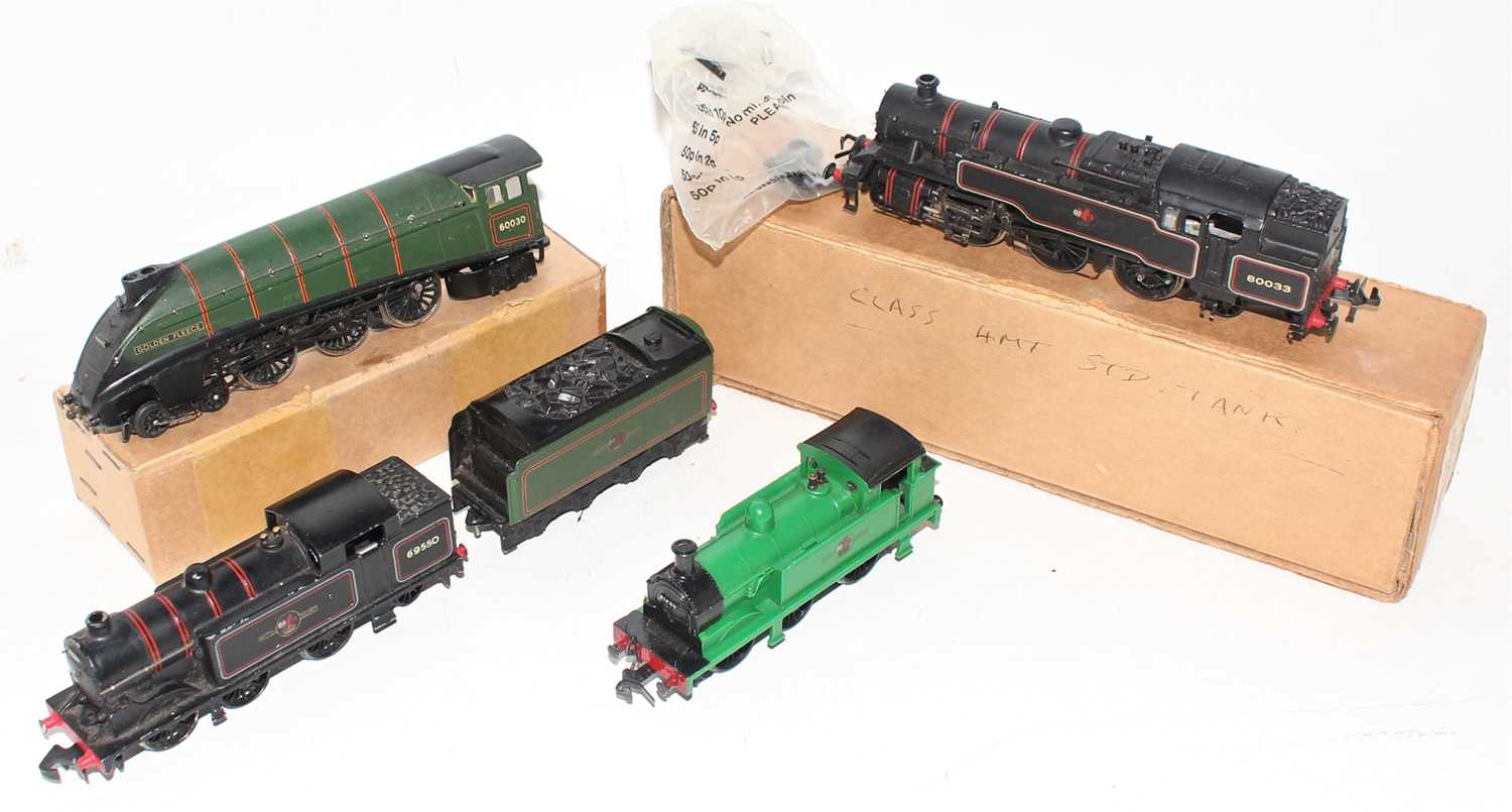 Lot 368 - Four Hornby Dublo 2-rail locos, each with some...