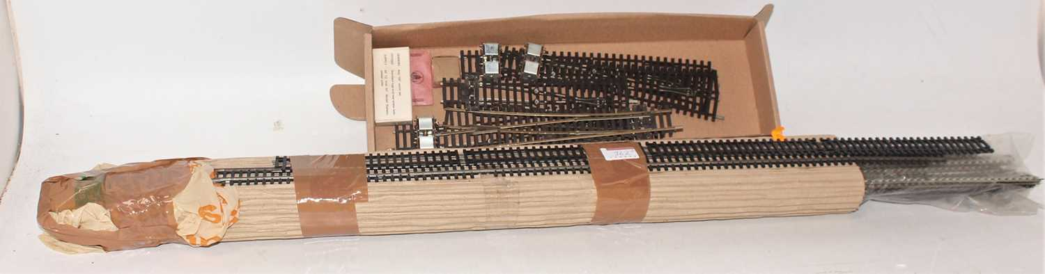 Lot 362 - Box of 2-rail track and points, to include 5...