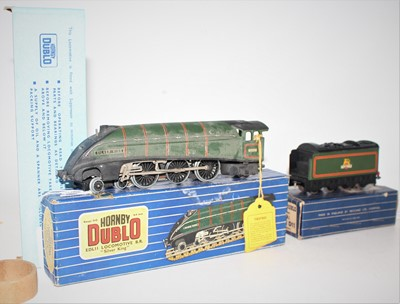 Lot 389 - Hornby Dublo EDL11 Silver King, 3-rail loco...