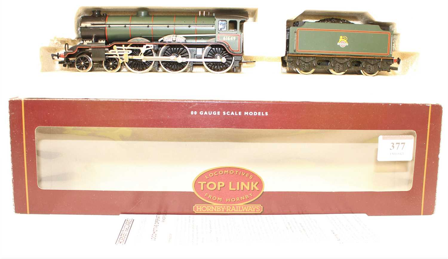 Lot 377 - Hornby Top Link Loco and Tender R2038D B17/4...