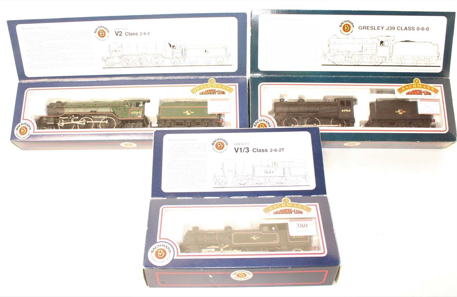 Lot 380 - 3 Bachmann Locos to include 31-602 V1 67601,...