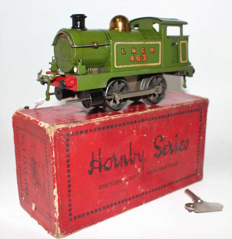 Lot 257 - Hornby 1928 No.1 Tank Clockwork loco 0-4-0...