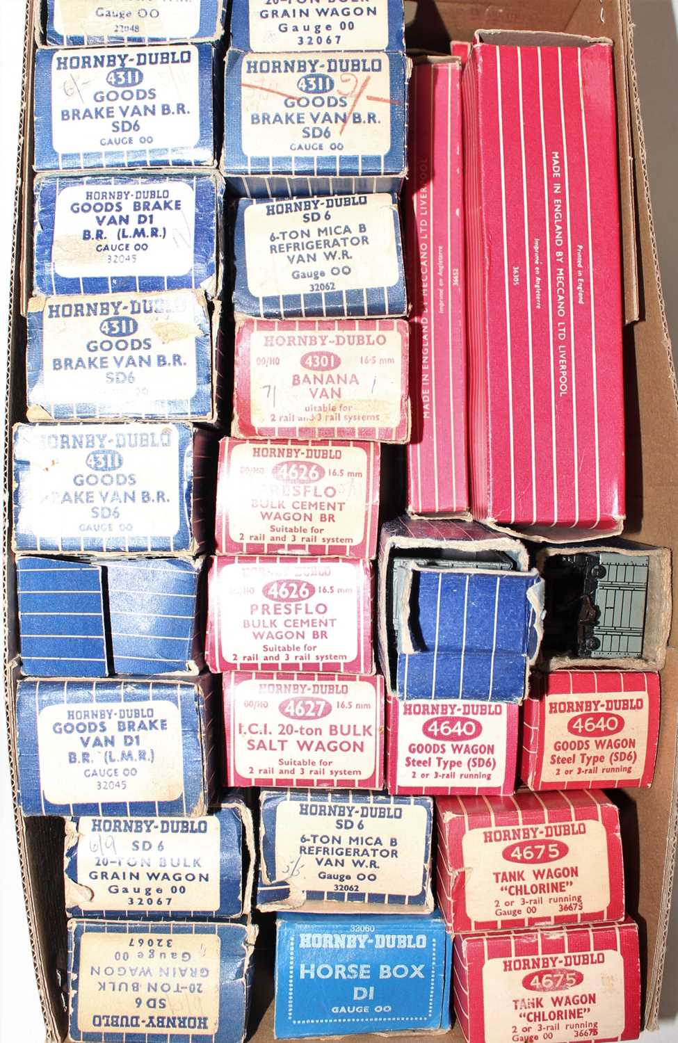 Lot 335 - 30 Hornby Dublo Boxed Wagons, majority with...