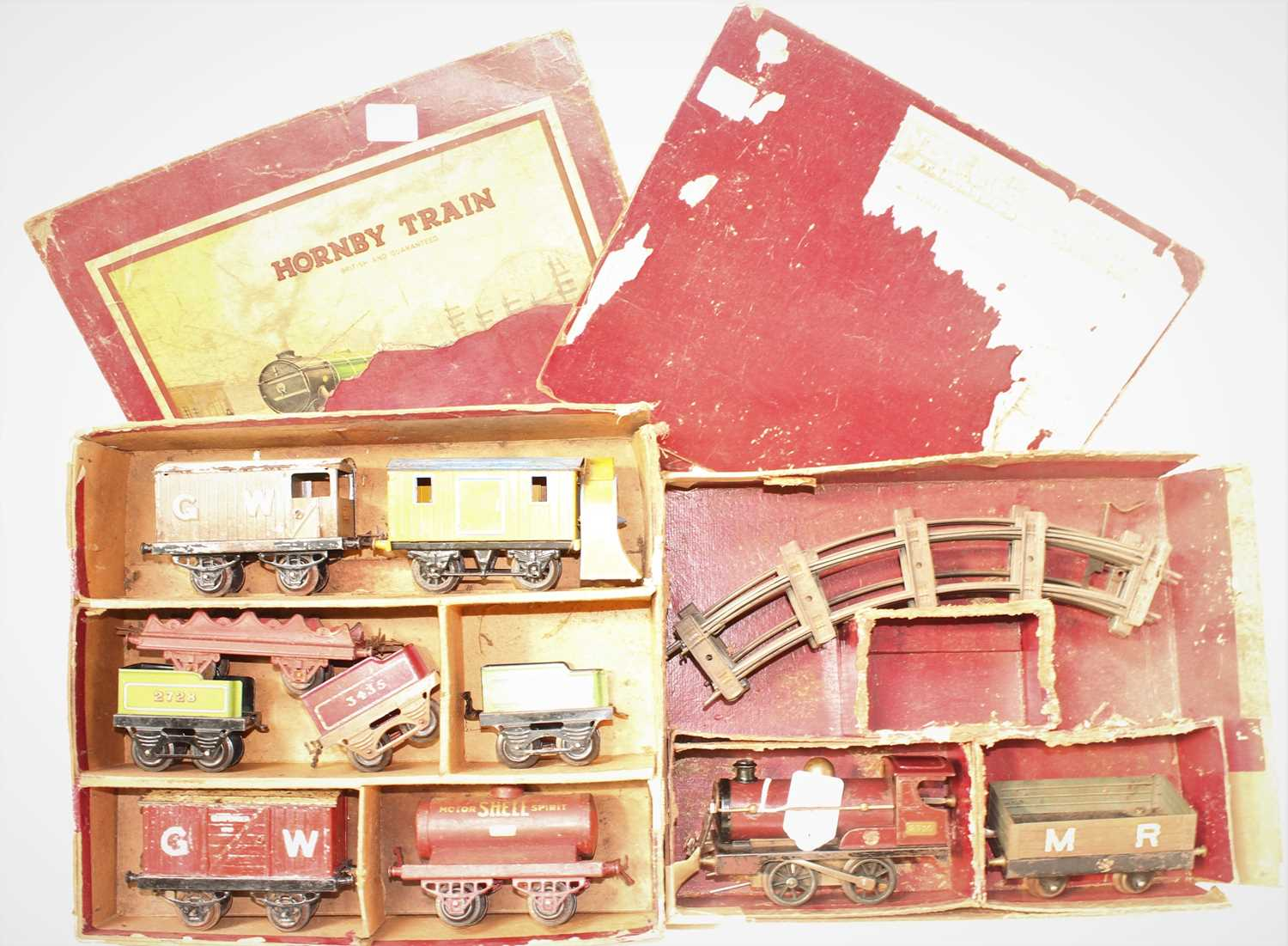 Lot 245 - Remains of 1924-8 Hornby No.0 Goods Set,...