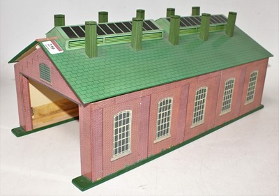 Lot 239 - A very well made repro Hornby No.2 Engine Shed,...