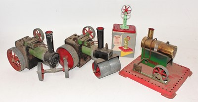 Lot 3 - Mamod Live Steam Group, to include SR1a Roller,...