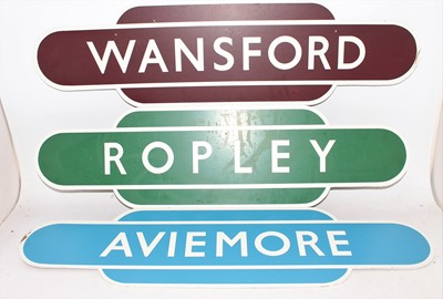 Lot 7 - 3 reproduction wooden totem signs, to include...