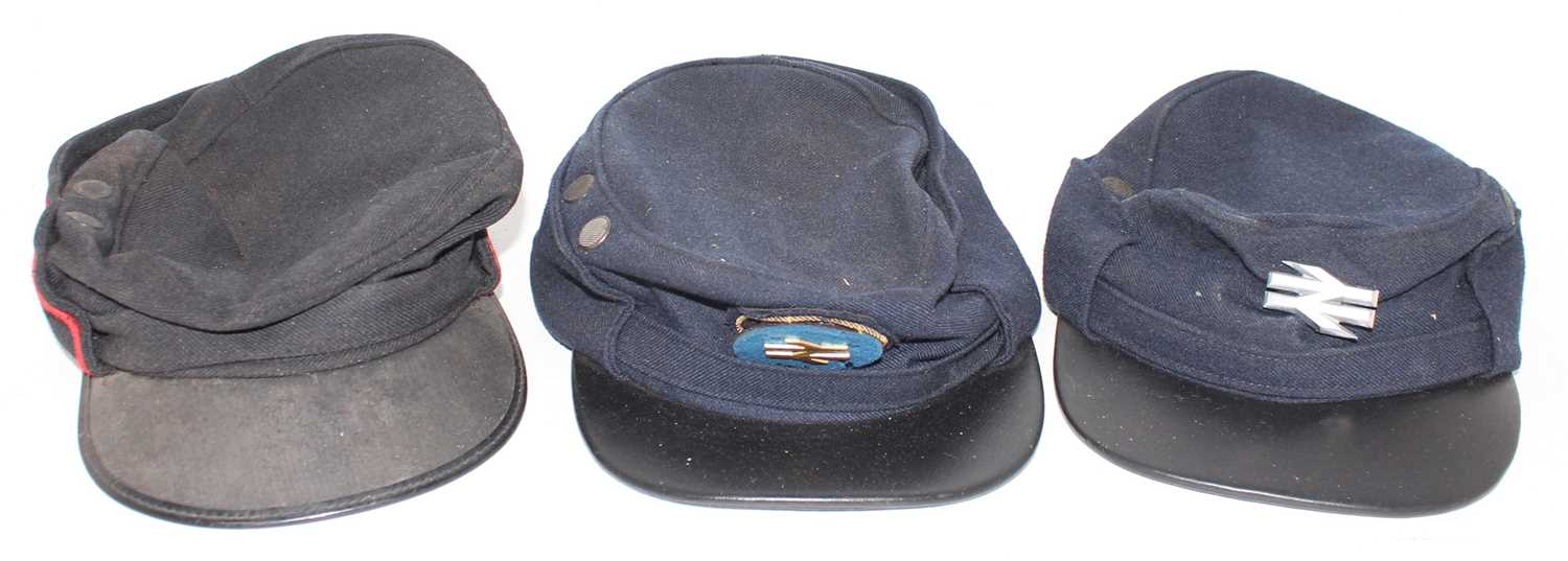 Lot 8 - 3 Various British Railway Uniform Caps
