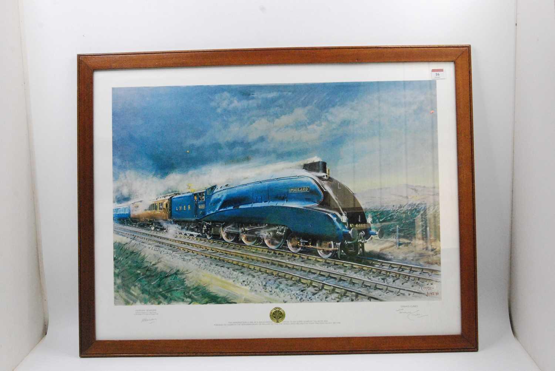 Lot 16 - Framed and Glazed landscape print of Mallard...