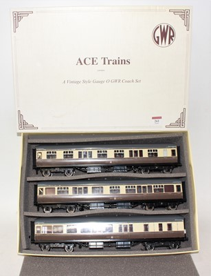 Lot 261 - ACE trains set A, GWR brown and cream...