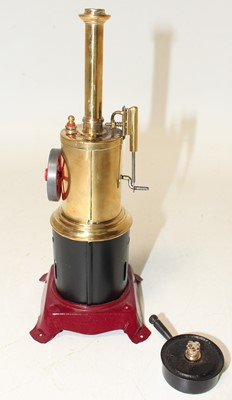 Lot 36 - Bing later restored vertical steam engine,...