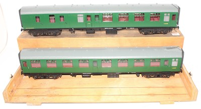 Lot 264 - Gauge 1 Model Company coach group, 2 examples...