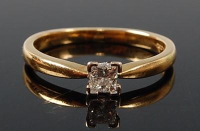 Lot 2609 - An 18ct yellow and white gold diamond single...