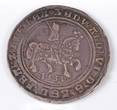 Lot England, 1551 half crown, Edward VI...