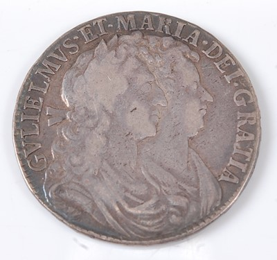 Lot 2164 - Great Britain, 1689 half crown, William and...