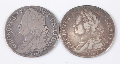 Lot 2172 - Great Britain, 1745 shilling, George II old...