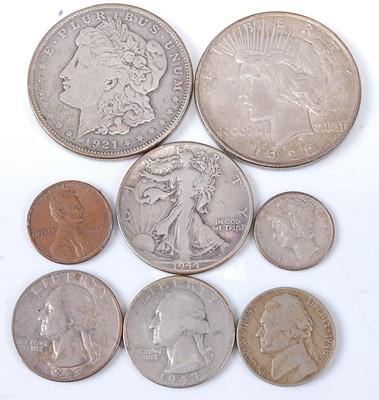 Lot 2181 - U.S.A., 1921 silver Morgan dollar, obv;...