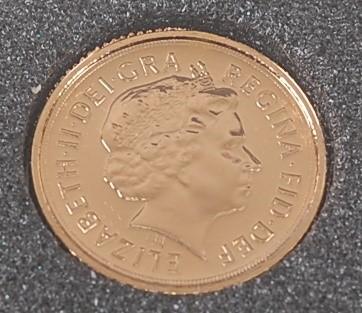 Lot 2046 - Great Britain, 2009 gold quarter sovereign,...