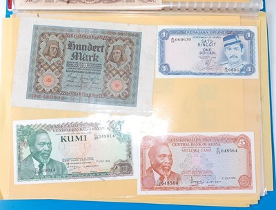 Lot 2077 - A large collection of World banknotes to...
