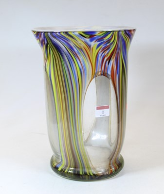 Lot 1 - A large 20th century Murano style glass vase,...