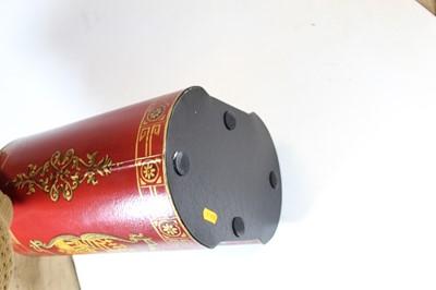 Lot 10 - A modern Toleware type waste-paper bin, of...