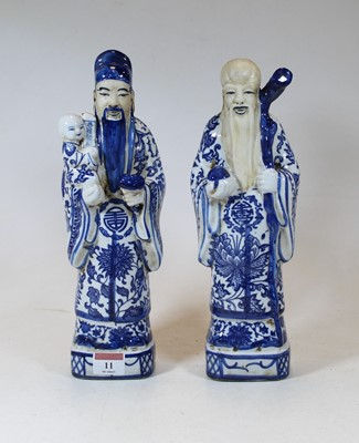 Lot 11 - A pair of modern Chinese blue and white...