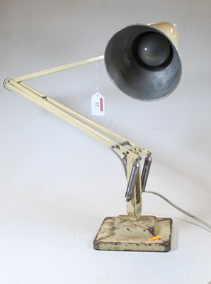 Lot 23 - A cream painted anglepoise adjustable desk...