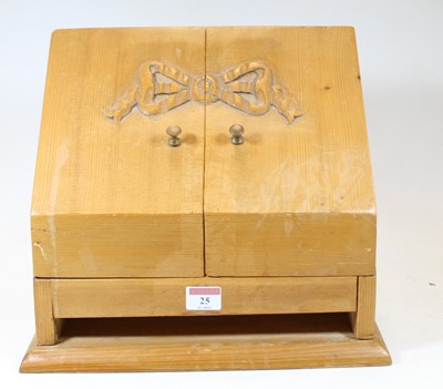 Lot 25 - An early 20th century pine table-top...