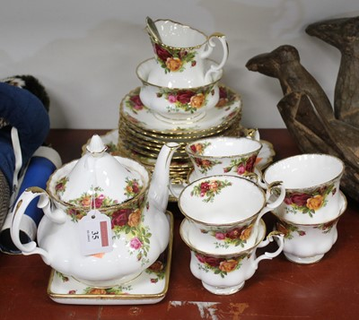 Lot 35 - A Royal Albert six place setting tea service,...