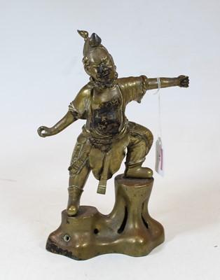 Lot 37 - A modern gilt bronze figure of a Chinese...