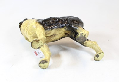 Lot 41 - A painted cast iron doorstop in the form of a...