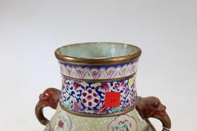 Lot 52 - A Chinese porcelain vase, of baluster form,...