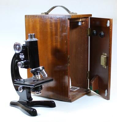 Lot 62 - A Beck of London model 47 monocular microscope,...
