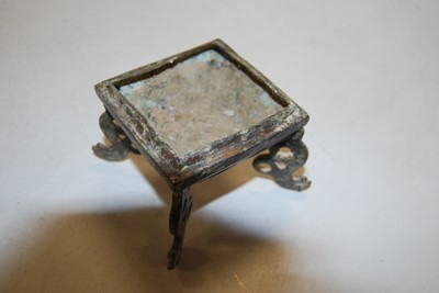 Lot 66 - A modern Chinese bronzed metal vase, of square...