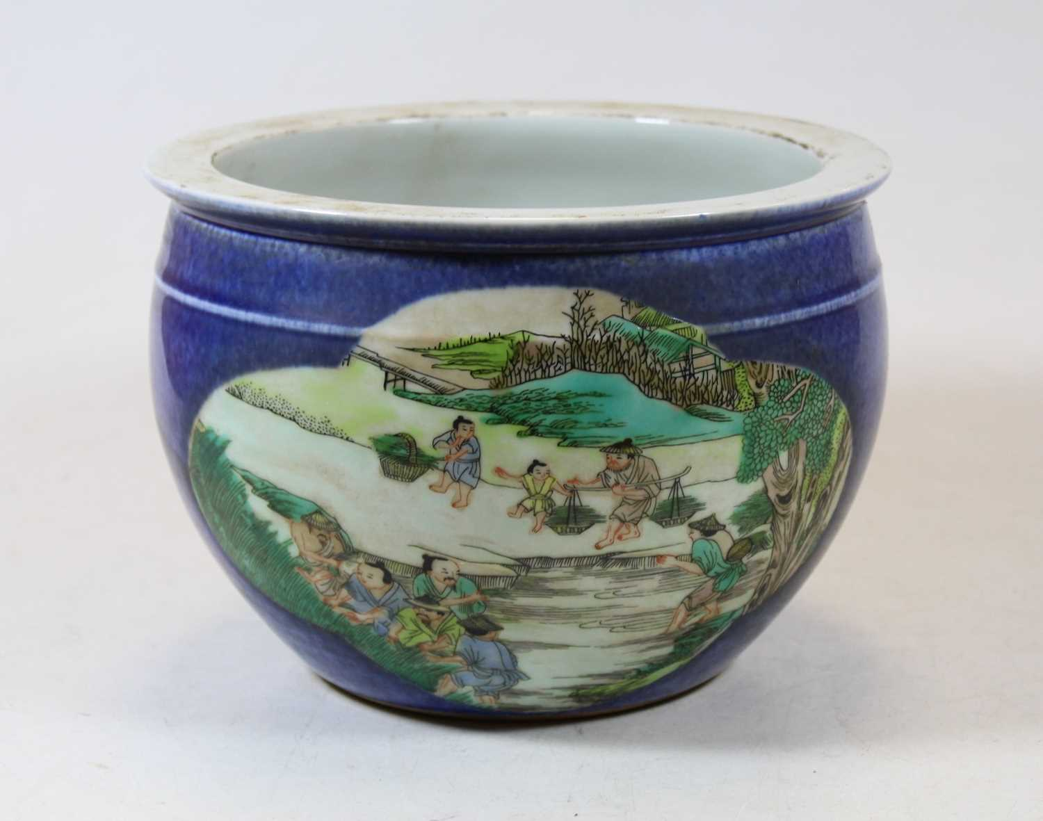 Lot 68 - A reproduction Chinese stoneware jardinière,...