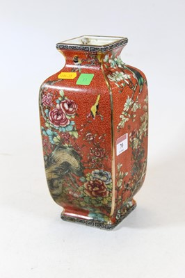 Lot 70 - A modern Chinese vase, of square section, on a...