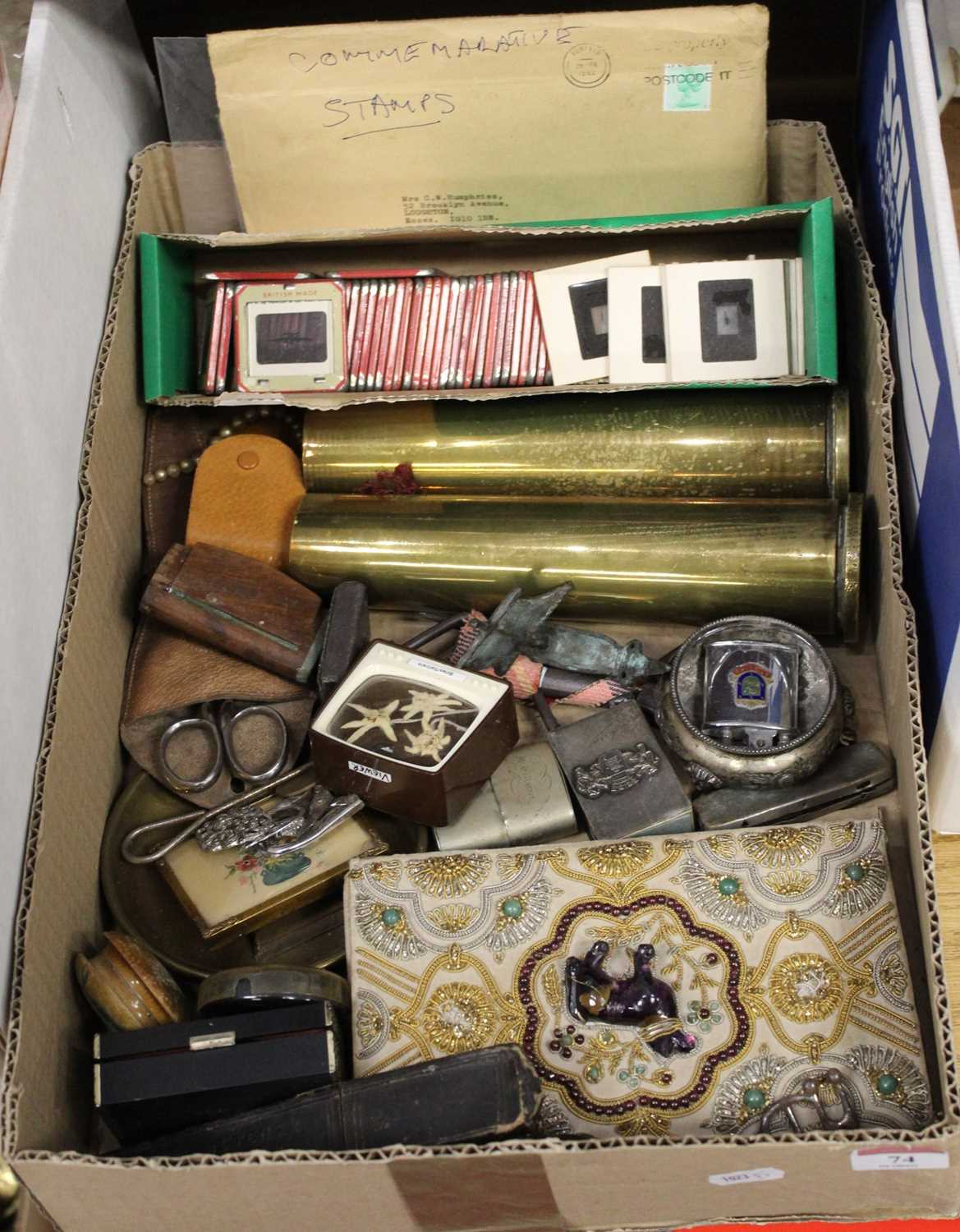 Lot 74 - A box of miscellaneous items, to include a...