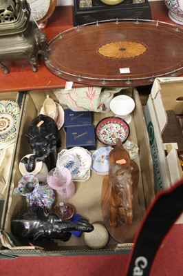 Lot 77 - Two boxes of miscellaneous items, to include...