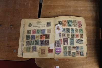 Lot 83 - A schoolboy stamp collection contained in a...
